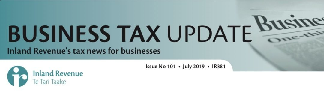 Business Tax Update July 2019