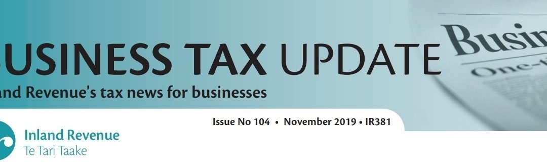Business Tax Update November 2019