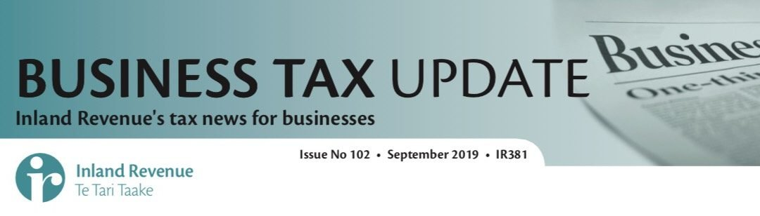 Business Tax Update September 2019