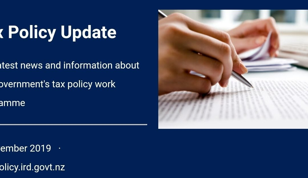 Tax policy update 6 November 2019
