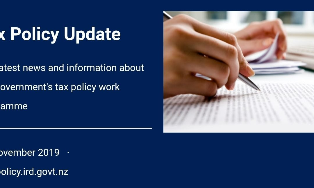 Tax policy update 27 November 2019