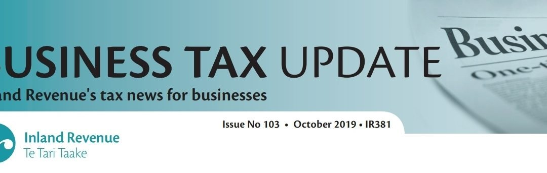Business Tax Update October 2019